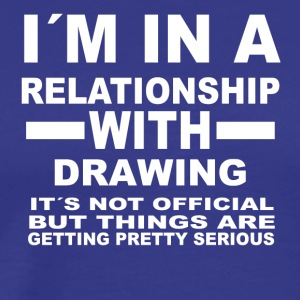 relationship with DRAWING - Männer Premium T-Shirt