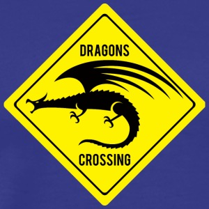 Fantasy / Drachen: Dragons Crossing - Männer Premium T-Shirt