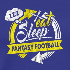 Répéter Eat Sleep Fantaisie Hobby Football - T-shirt Premium Homme
