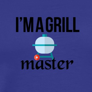 The grill master - Premium T-skjorte for menn