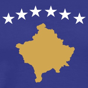 Flag Kosovo - Premium T-skjorte for menn