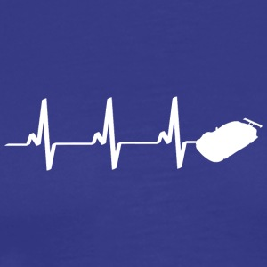 Heartbeat race car Heartbeat heart rate car - Men's Premium T-Shirt