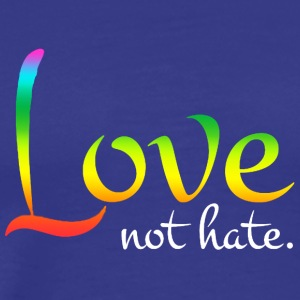Love not hate - Men's Premium T-Shirt