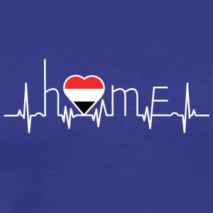 i love home homeland Yemen - Men's Premium T-Shirt