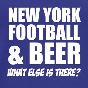 new york fotball - Premium T-skjorte for menn