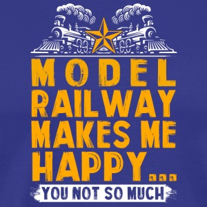 Model railway makes me happy - Men's Premium T-Shirt