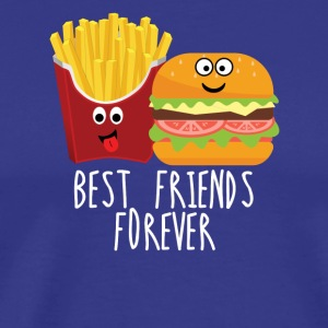 Fries and burgers Best friends forever - Men's Premium T-Shirt