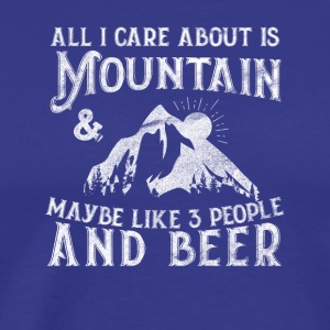 Mountain and beer - Men's Premium T-Shirt