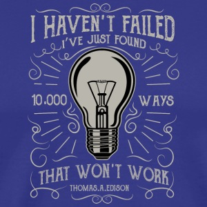 1000 Ways2 Edison light bulb motivation Christmas - Men's Premium T-Shirt