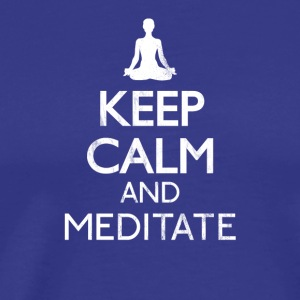 Keep calm and meditate - Meditation shirt - Men's Premium T-Shirt