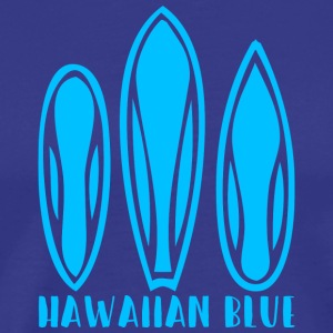 Hawaiian Blue 3 surfboards - Premium-T-shirt herr