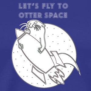 LET´S FLY TO OTTER SPACE - WEISSE RAKETE - Männer Premium T-Shirt