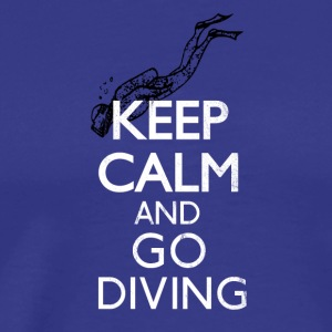 Keep calm and go diving - Taucher Shirt - Männer Premium T-Shirt