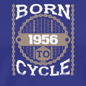 born to cycle moutainbike fahrrad 1956 - Männer Premium T-Shirt