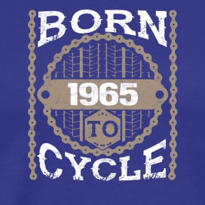 born to cycle moutainbike fahrrad 1965 - Männer Premium T-Shirt