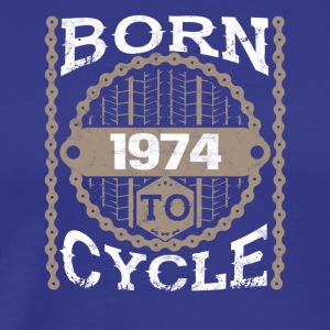 Born to cycle moutainbike bicycle 1974 - Men's Premium T-Shirt