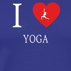 I Love yoga meditation 5 - Männer Premium T-Shirt