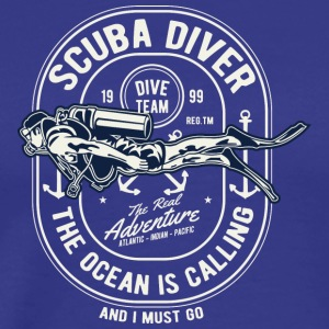 Scuba Diver Diving Sea Underwater jule - Premium T-skjorte for menn