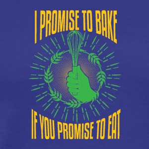 I promise to bake - Men's Premium T-Shirt
