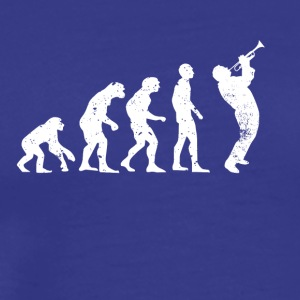 Evolution trumpet instrument chorus music jazz - Men's Premium T-Shirt