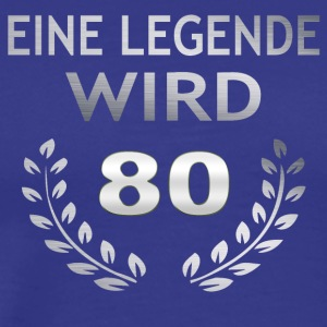 En legende blir 80 - Premium T-skjorte for menn