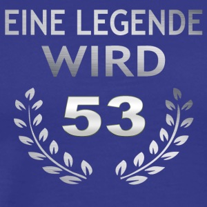 En legende blir 53 - Premium T-skjorte for menn