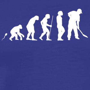 Worker with shovel Construction site construction worker - Men's Premium T-Shirt