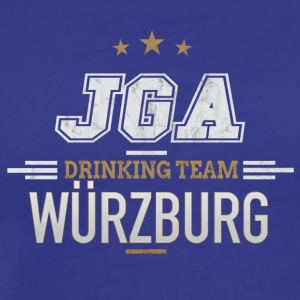 Bachelor JGA Würzburg Drinking Team - Premium T-skjorte for menn