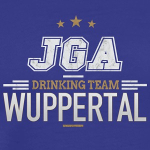 Bachelor JGA Wuppertal Drinking Team - Premium T-skjorte for menn