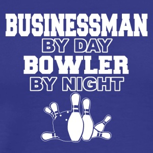 businessman by day bowler by night - Männer Premium T-Shirt