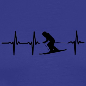 My heart beats for skiing - Men's Premium T-Shirt