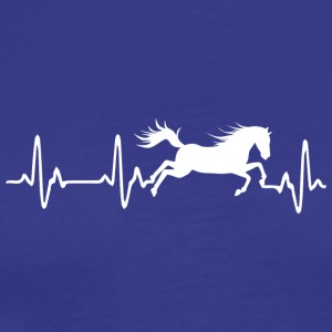 Heart rate - horse Heartbeat Horse - Men's Premium T-Shirt