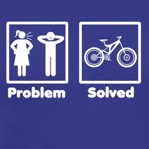 problem solved mountain bike cycle - Men's Premium T-Shirt