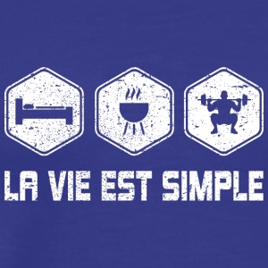 LA VIE EST SIMPLE - Mannen Premium T-shirt