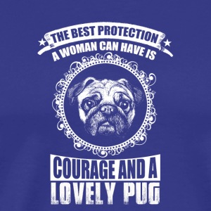 The Best Protection, a lovely Pug - Männer Premium T-Shirt