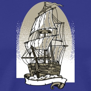 Ship Ship Sailboat Boat Skipper Christmas - Men's Premium T-Shirt