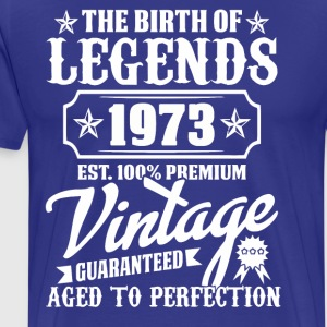 La prime vintage Birth of Legends 1973 - T-shirt Premium Homme