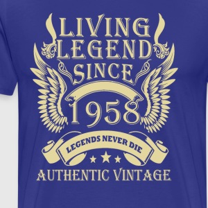 Living Legends Since 1958 Authentic Vintage - Men's Premium T-Shirt