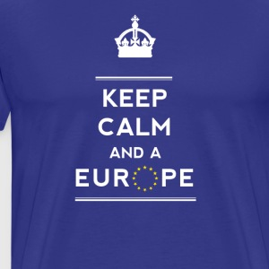 keep calm and Love Europa eu Europastar moro demo - Premium T-skjorte for menn