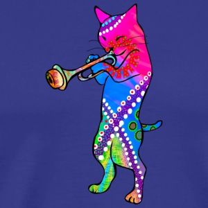 Jazz Cat plays the Trumpet - Camiseta premium hombre