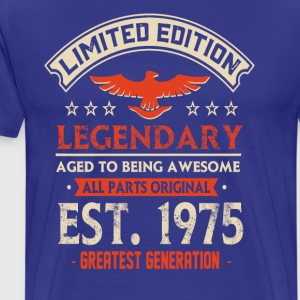 Limited Edition Legendary Est 1975 - Mannen Premium T-shirt
