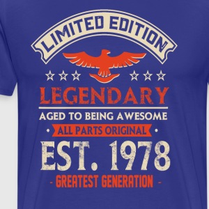 Limited Edition Legendary Est 1978 - Männer Premium T-Shirt