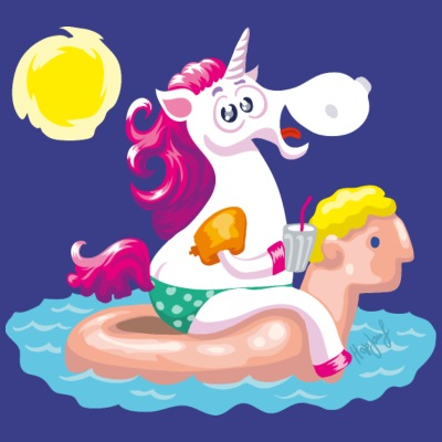 Unicorn water animal inflatable