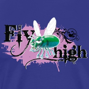 shirt motif fly party fly high purple