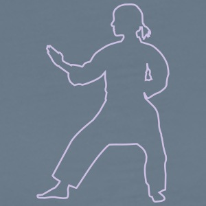 Karate Silhouette - Men's Premium T-Shirt