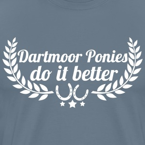 Dartmoor ponies - Men's Premium T-Shirt