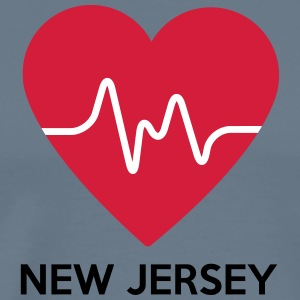 Coeur New Jersey - T-shirt Premium Homme