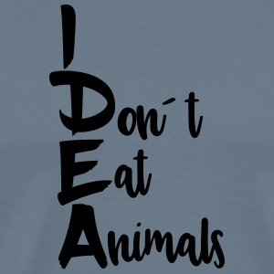 Idea: I don't eat animals - Men's Premium T-Shirt