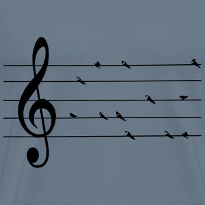 musical swallows - Men's Premium T-Shirt