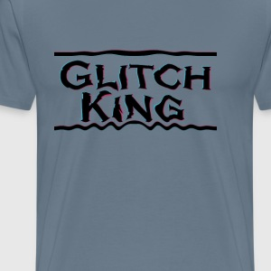 Glitch-King logo (extreme) - Men's Premium T-Shirt